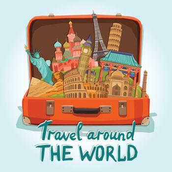 Tourist Suitcase Illustration