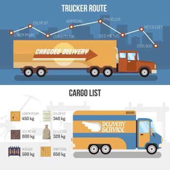 Delivery Trucks Banners
