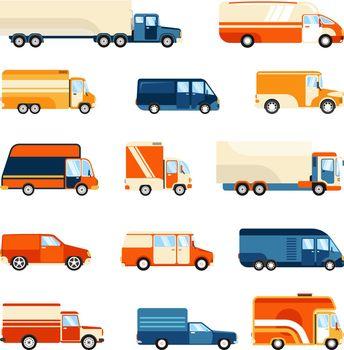 Delivery Trucks Set