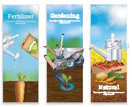 Three Farming Vertical Banners