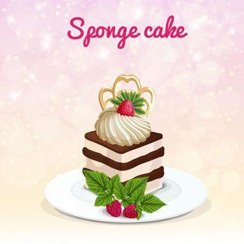 Sponge Cake Illustration