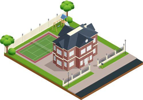 Suburb House Composition