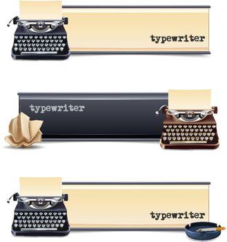 Typewriter Banners Set