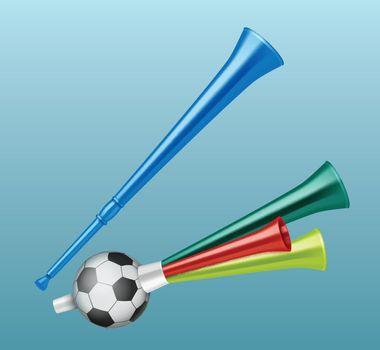 Trumpet football fan.