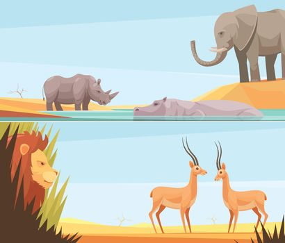 African Wild Banners Set