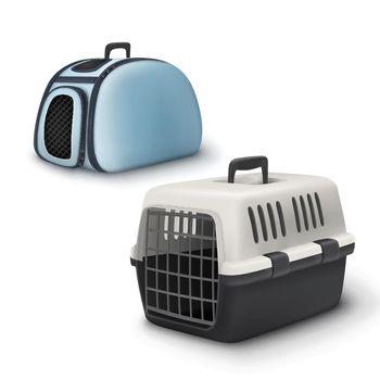 Vector pets carrier