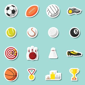 Sports stickers set