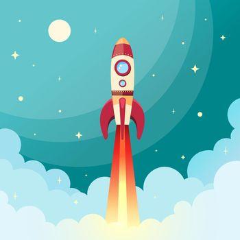 Space rocket print