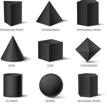 Solid Geometric Shapes Set