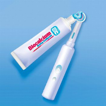 Toothpaste And Toothbrush Background