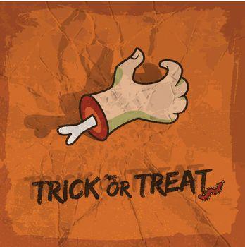 Trick Or Treat Cartoon Style Design