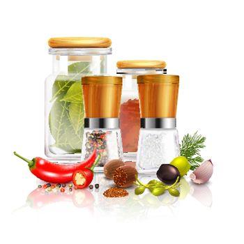 Spices 3D Composition