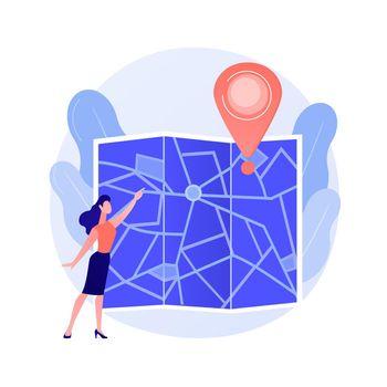 Journey route planning vector concept metaphor