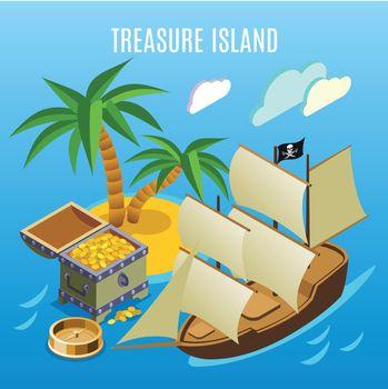 Treasure Island Isometric Game Background