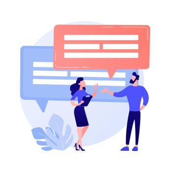Business discussion vector concept metaphor