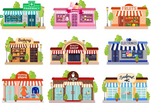 Store Facades Set