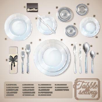 Table Setting Infographics
