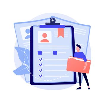 Employees CV, candidates resume vector concept metaphor.
