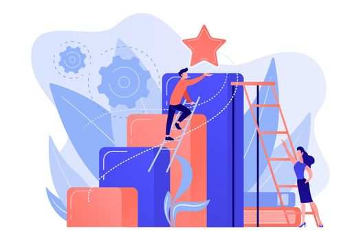 Business ambition concept vector illustration.
