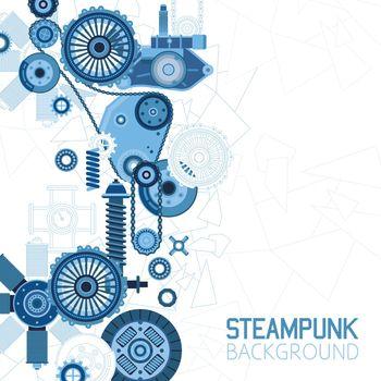 Steampunk Futuristic Background