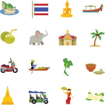 Thailand Icons Set