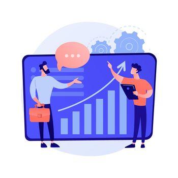 Business consultation vector concept metaphor