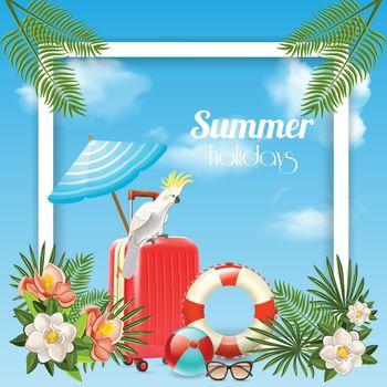 Tropical Holidays Frame Background