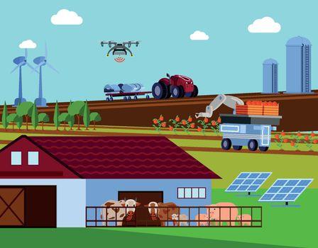 Smart Farming Orthogonal Flat Composition