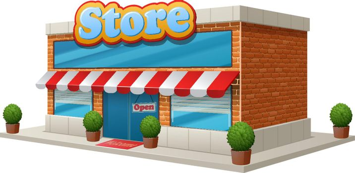 Store Building Isolated