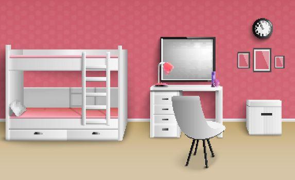Teen Girl Room Realistic