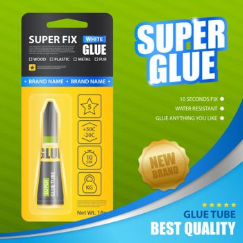 Super Glue Realistic Poster