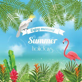 Enjoy Tropical Summer Background