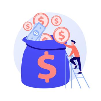 Finances management vector concept metaphor