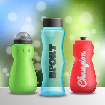 Sport Athlete Bottles Composition