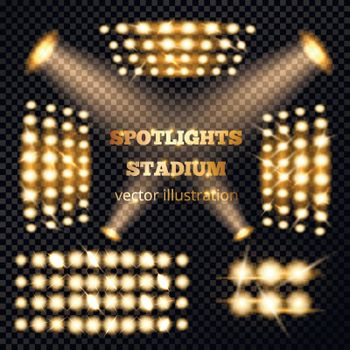 Stadium Spotlights Gold Set