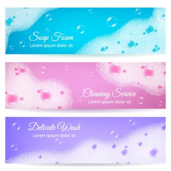 Soap Foam Realistic Banners