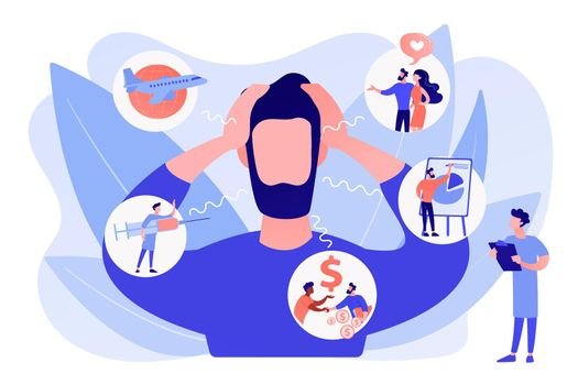 Anxiety concept vector illustration
