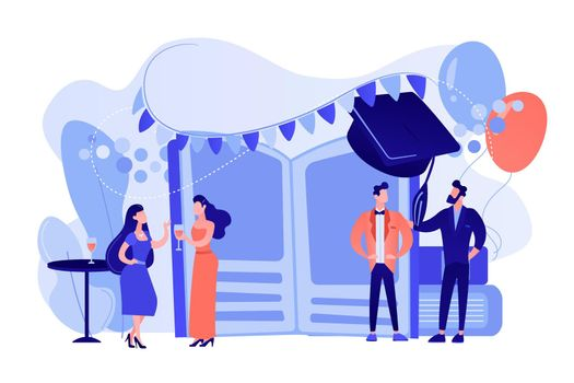Prom party concept vector illustration.