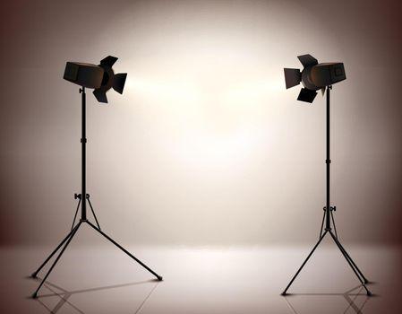 Standing Spotlights Background