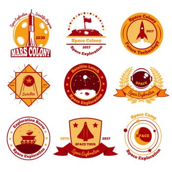 Space Colourful Emblems Collection