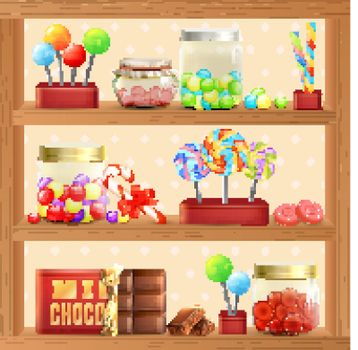 Sweet Store Shelf