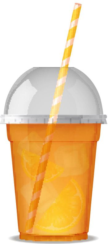 Plastic Glass With Smoothie