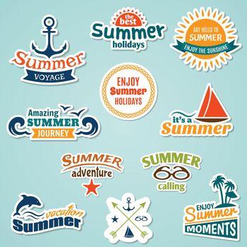 Summer element sticker
