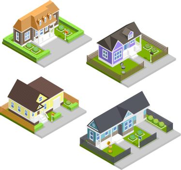 Town Houses Composition