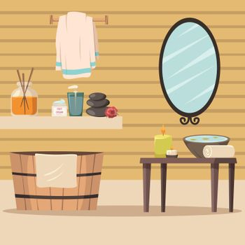 Spa Salon With Accessories For Relaxation