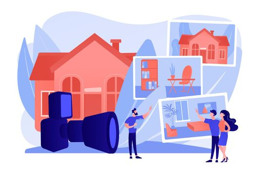 Real estate photography concept vector illustration