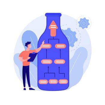 Business experiment vector concept metaphor