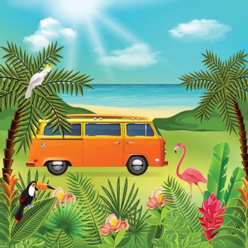 Hippie Van Holidays Composition