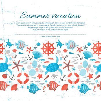 Summer Vacation Grunge Paper Background