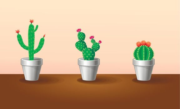 Decorative Exotic Plants Set